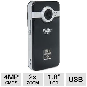 Vivitar DVR410-BLACK Pocket Video Camcorder