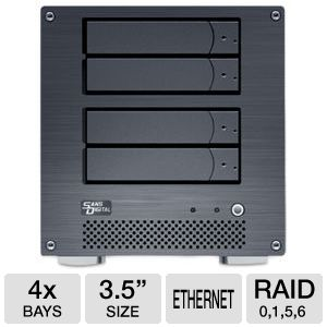 Sans Digital NAS Hard Drive Enclosure 4 Bay