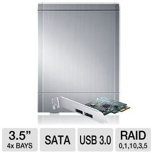 "Sans Digital 4Bay 3.5"" SATA to USB3/eSATA HDD Encl"