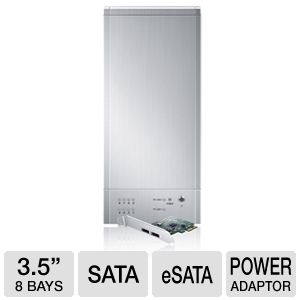 "Sans Digital 8Bay 3.5"" SATA to eSATA HDD Enclosure"