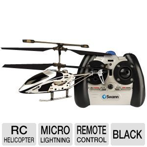 Swann Micro Lightning Black Helicopter