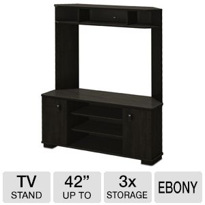 South Shore VERTEX Corner TV Unit Ebony