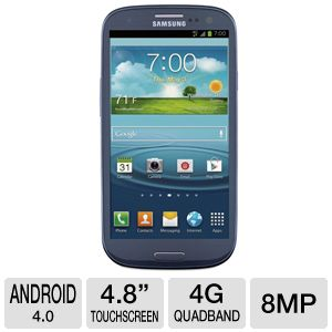 Sprint Samsung Galaxy S III 4G LTE Blue Cell Phone