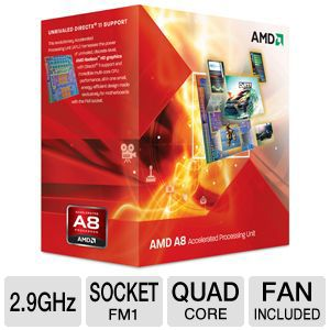 AMD Quad-Core A8-3850 2.9GHz Radeon HD 6550D APU