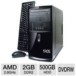 Systemax No O/S AMD Desktop PC