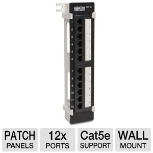 Tripp-Lite 12 Port Cat5e Wall Mount Patch Panel