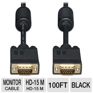 Tripp-Lite 100ft VGA M/M Monitor Cable
