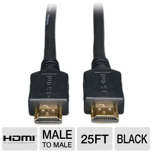Tripp-Lite Gold HDMI M/M 25ft Cable Up to 10.2Gbps