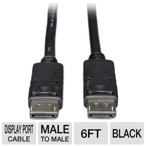 Tripp-Lite 6ft DisplayPort Monitor Cable