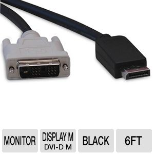 Tripp-Lite 6ft DisplayPort to DVI Sgl Link Cable