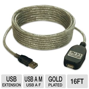 Tripp-Lite 16ft USB 2.0 Active Extension Cable