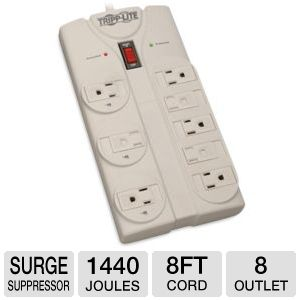 Tripp Lite TLP808 Protect It! 8 outlet Surge Suppr