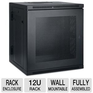 SmartRack 12U Wall Mount Enclosure with Doors and