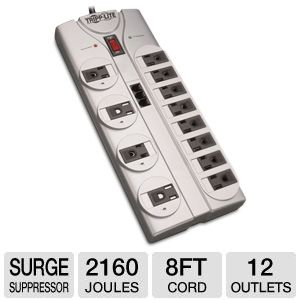 Tripp Lite TLP1208TEL Protect It! Surge Suppressor