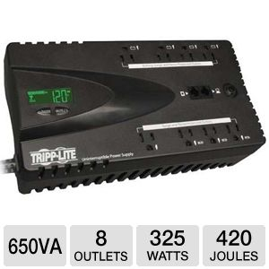Tripp Lite 8 Outlet 650VA ECO Energy Saving UPS
