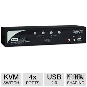 Tripp Lite B006-VUA4-K-R 4-Port KVM Switch