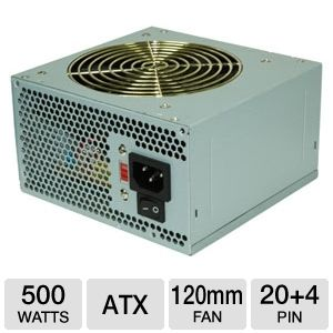 Coolmax V-500 500-Watt Power Supply