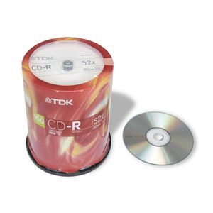 TDK 100 Pack 52X CD-R Spindle - CD-R80CB100