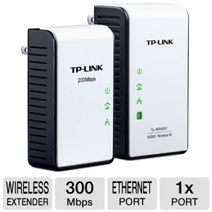 TP-Link 300Mbps Wireless N Powerline Extender Kit