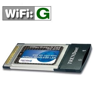 Trendware 54Mbps 802.11G Wireless PC Card