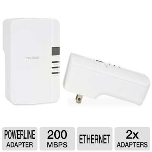 TRENDnet TPL-303E2K 200Mbps Powerline AV Adapter K