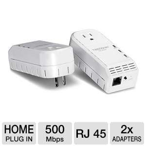 TRENDnet TPL-402E2K 500Mbps Powerline AV Adapter