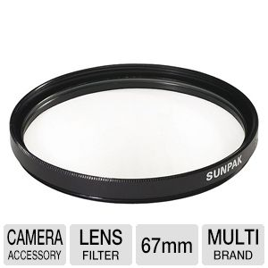 Sunpak DF-7036-UV 67mm Ultra-Violet Filter