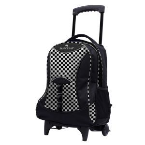 Lightweight Wheeled Backpack in Checker