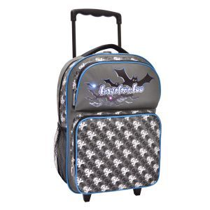 LED Rolling Backpack, Cute Skull Art Print