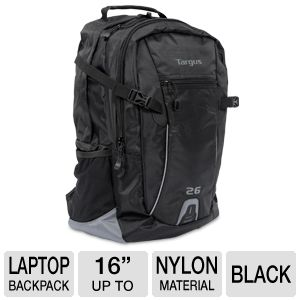 "Targus 16"" Sport Backpack w/Water Bottle Holder"