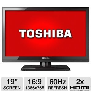 "Toshiba 19SL410 19"" Class Widescreen LED HD REFURB"