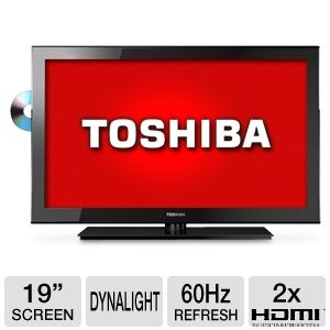 "Toshiba 19"" 720p 60Hz LED Backlit HDTV/DVD"