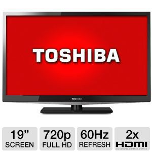 "Toshiba 19"" 720p 60Hz LED HDTV"