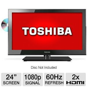 Toshiba 24&quot; Class LED HDTV/DVD Combo