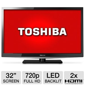 Toshiba 32&quot; Class LED HDTV  REFURB