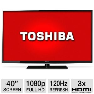 "Toshiba 40L5200U 40"" 1080p 120Hz LED HDTV"