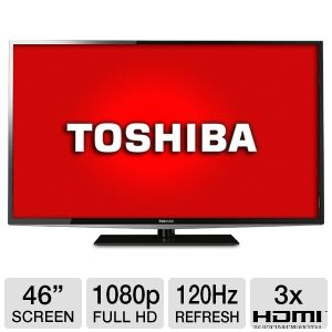 Toshiba 46L5200 46 inch 1080p 120Hz LED LCD HDTV with 3 HDMI, USB, PC Input, DynaLight, Energy Star