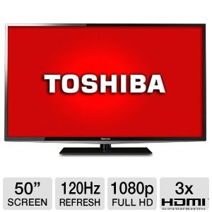 "Toshiba 50"" 1080p 120Hz LED HDTV"