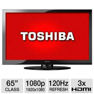 Toshiba 65&quot; 1080p 120Hz LCD HDTV, 1080p, 120Hz