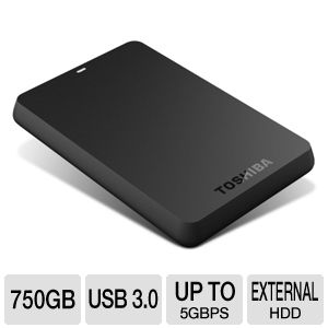 Toshiba Canvio Basics USB 3.0 750GB Portable HDD
