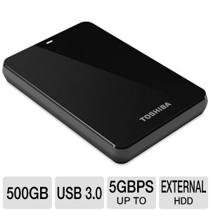 Toshiba Canvio 3.0 Portable 500GB Hard Drive