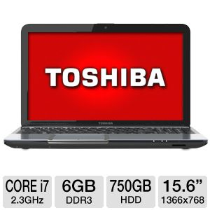 "Toshiba 15.6"" Core i7 750GB HDD Notebook"