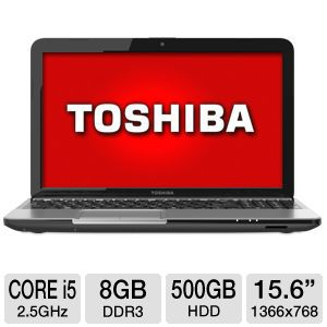 "Toshiba 15.6"" Core i5 500GB HDD Notebook"