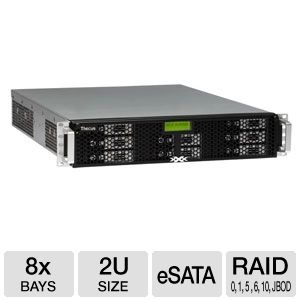 Thecus 8 Bay 2U Rackmount NAS Enclosure