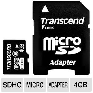 Transcend 4GB Micro SDHC Card