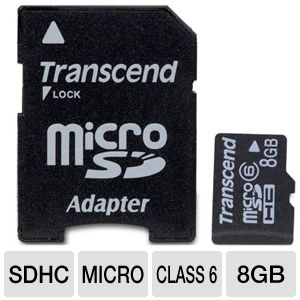 Transcend 8GB MicroSDHC Card