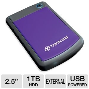 "Transcend 1TB 2.5"" USB 3.0 HDD w/Shock Protection"