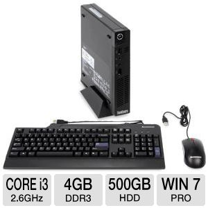 Lenovo M72e Core i3, 4GB, 500GB HDD Desktop PC
