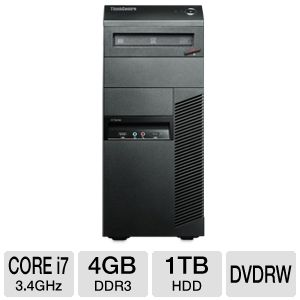 Lenovo ThinkCentre Core i7 1TB HDD 4GB RAM Desktop