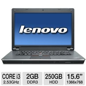 "Lenovo ThinkPad 15.6"" Core i3 250GB Notebook"